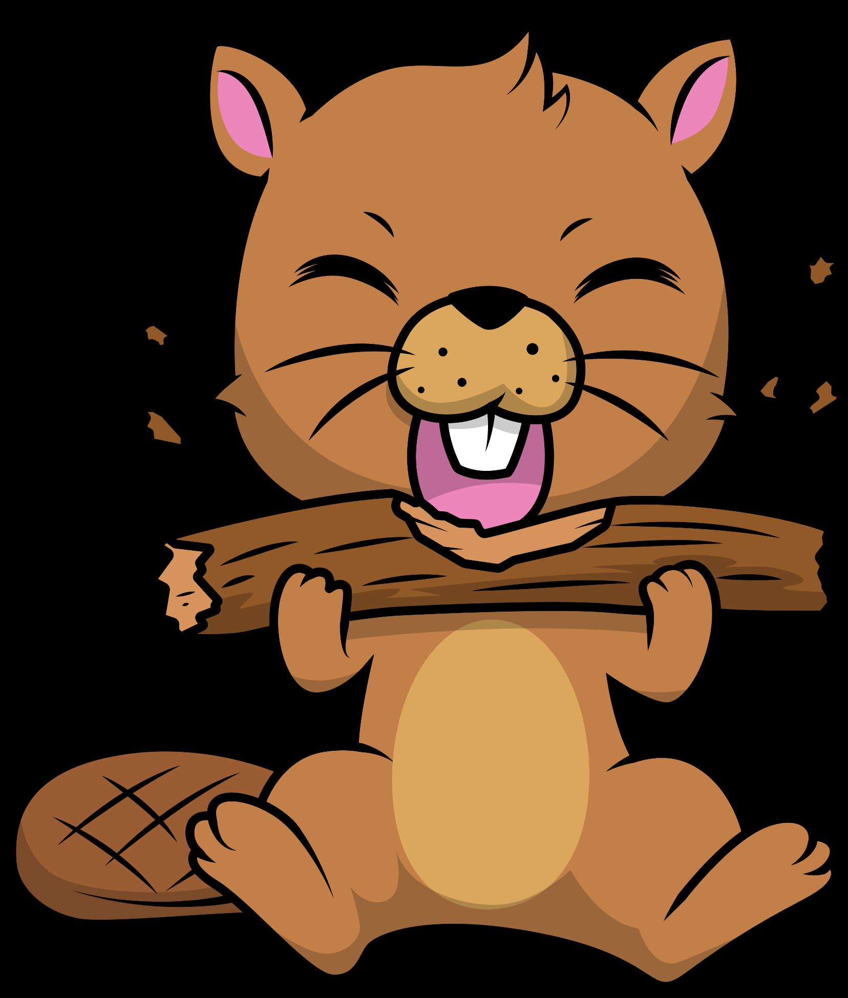 TenVinilo. Vinilo decorativo infantil animal salvaje castor lindo. Vinilo animales salvajes de castor para la habitación de tus hijos. Este diseño creará una sensación tierna y cariñosa ¡Envío a domicilio!