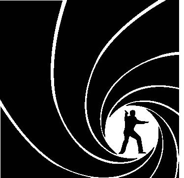 TenStickers. Sticker James Bond. Deze decoratiesticker zullen de fans van James Bond zeker en vast leuk vinden, bekijk nu hier onze muursticker van geheimagent James Bond 007.