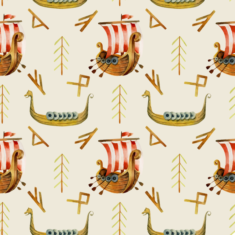 TenVinilo. Vinilo muebles patrón marino estilo nórdico. Papel adhesivo para muebles de estilo nórdico con patrón marino. Diseño perfecto para cualquier estancia ¡Envío a domicilio!