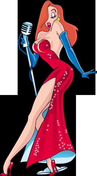 """TenVinilo. Vinilo decorativo Jessica Rabbit. Ilustración en vinilo del personaje femenino de la película """"¿Quién engañó a Roger Rabitt?"""". Un dibujo sensual y sexy para decorar tu habitación."""