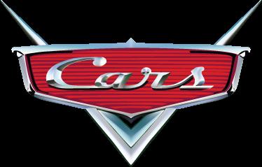 TenVinilo. Vinilo decorativo logo Cars. Adhesivo de la película de animación representado como un frontal de coche clásico lacado y metalizado. Un vinilo infantil para los más pequeños de la casa.