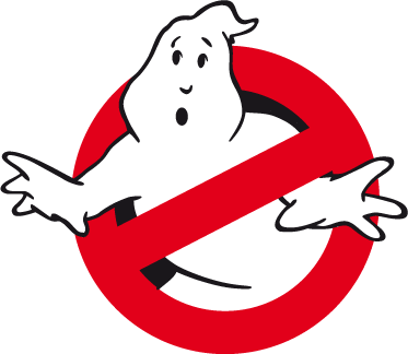 TenStickers. Ghostbusters Logo Sticker. An emblem sticker from the famous film released in 1984, Ghostbusters! If you are still a big fan of them then this logo decal is ideal for you!