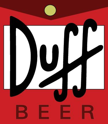 TenVinilo. Vinilo decorativo logo cerveza Duff. Etiqueta de la cerveza que bebe Homer Simpson. Un vinilo para los fans de esta serie de televisión de dibujos animados.