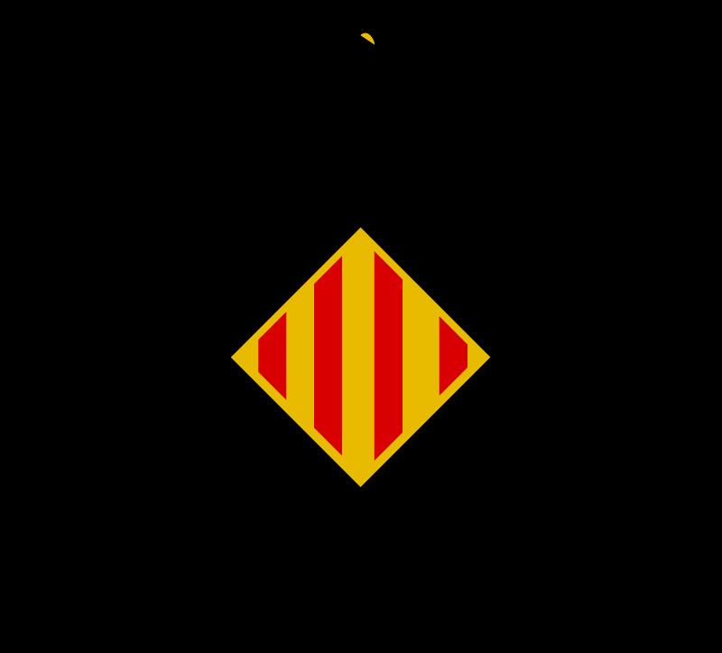TenVinilo. Vinilo bandera escudo del dragón catalán. Vinilo coche de bandera del dragón catalán con el que podrás expresar tu amor hacia esta región y sus tradiciones ¡Envío a domicilio!