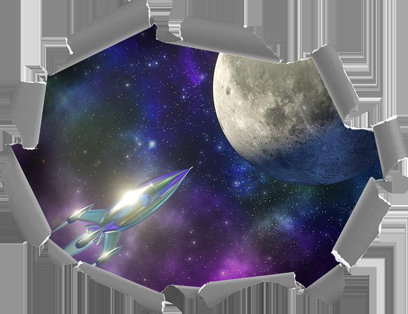 TENSTICKERS. 光学効果星空の夜の視覚効果壁の装飾. 星空の夜間スペースステッカーデカールの非常に素晴らしいオリジナルの視覚効果で、家のあらゆる部分を飾ります。オリジナルで簡単に適用できます。