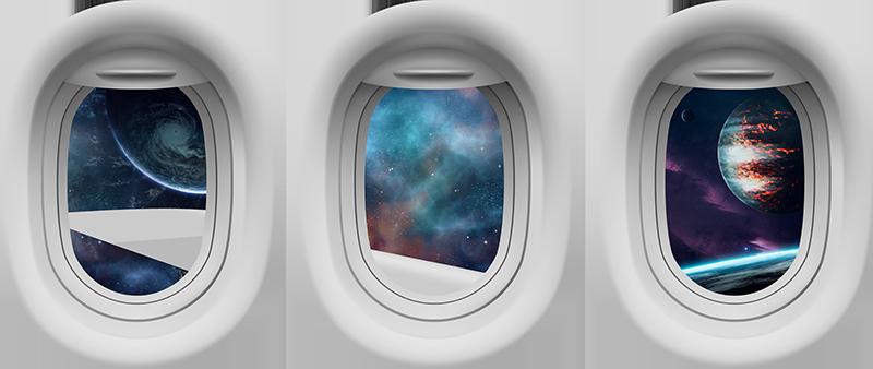 TENSTICKERS. 光学効果宇宙船窓視覚効果壁デカール. 光学効果の宇宙船の視覚効果デカール。製品はオリジナルで粘着性があります。どのサイズでもご利用いただけます。