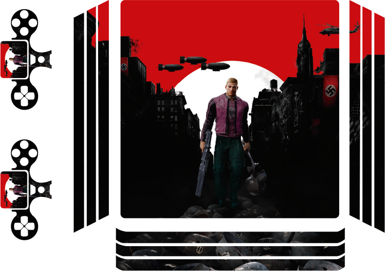 TenVinilo. Vinilo PS4 Wolfenstein. Skin ps4 realista y con efectos visuales de Wolfenstein. Envuelva su consola o mando de juegos con este increíble diseño ¡Envío a domicilio!