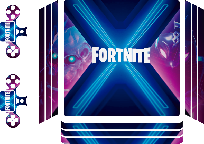 TenStickers. Fortnite Battle Royal ps4 sticker. A beautiful theme background ps4 decal fortnite battle royal. A design for people who enjoy to keep it simple. Easy to apply and of high quality.