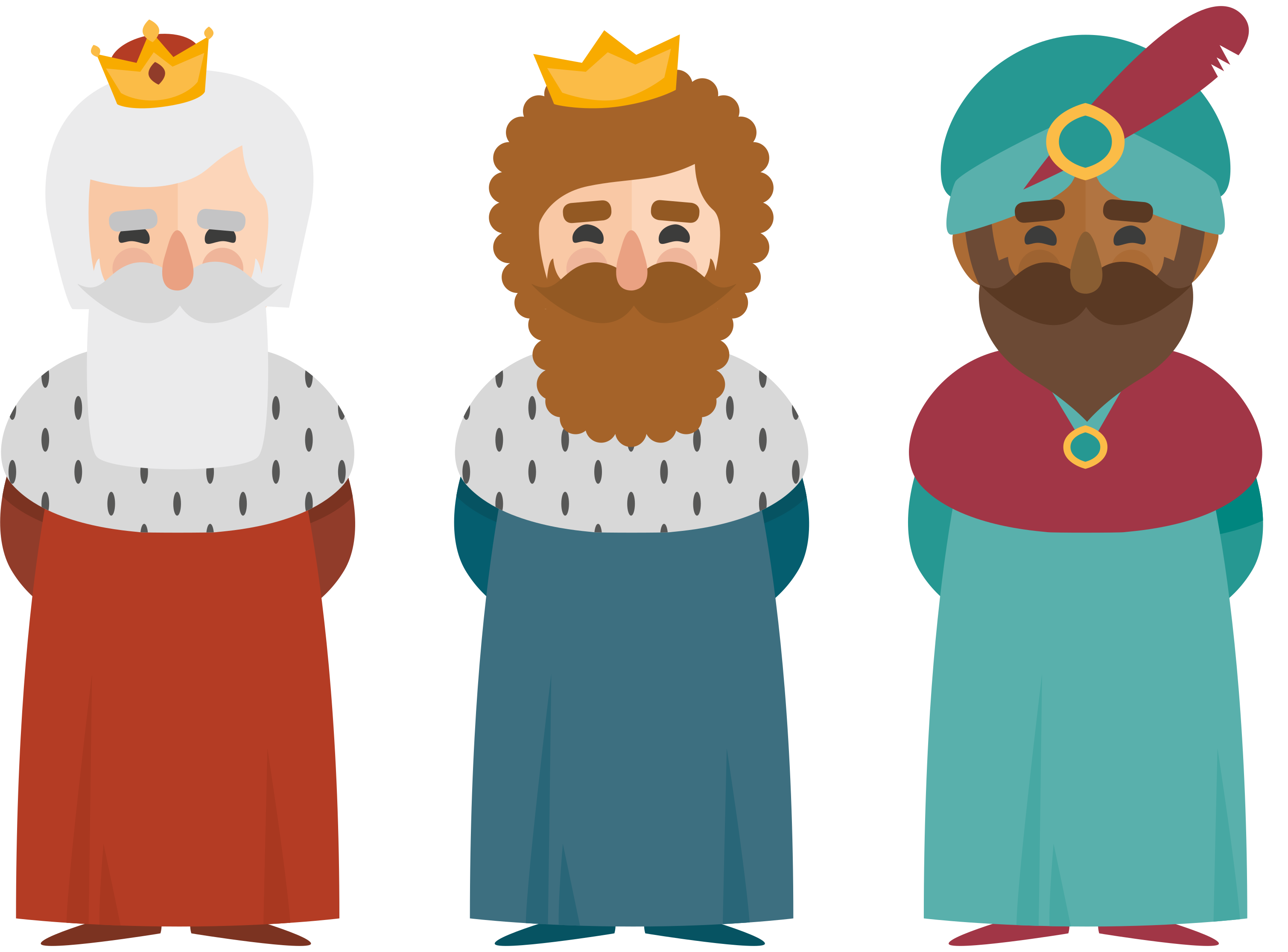 TenStickers. Three Kings christmas wall decal. Decorative Illustrative Christmas sticker design of the three wise men who trace the star direction to visit Jesus when he was born.