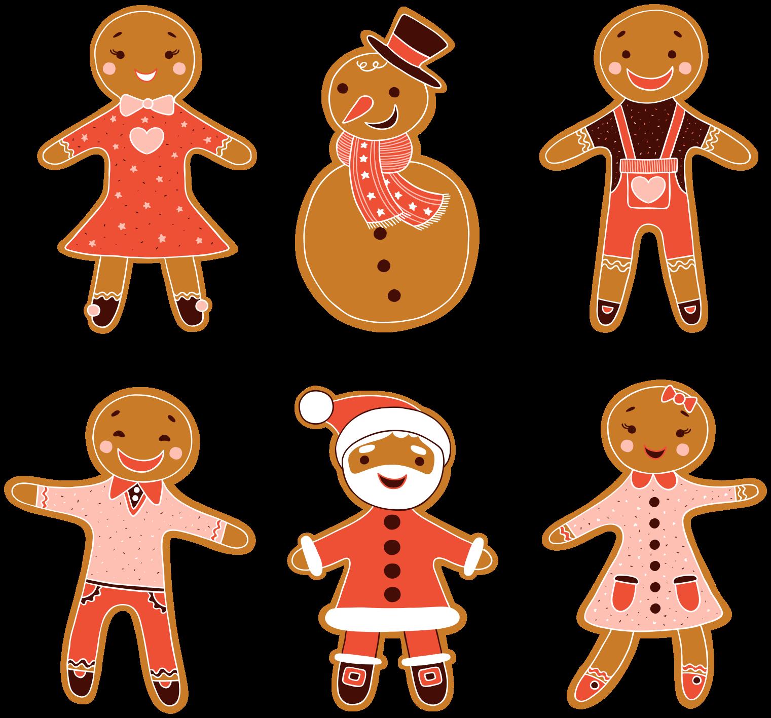 TenStickers. Kerststickers Verschillende kerstfiguren. Decoratieve kerst decoratieve muursticker ontwerp het ontwerp is voorzien van verschillende figuren van sneeuwman, kerstman etc. Eenvoudig aan te brengen en van hoge kwaliteit.