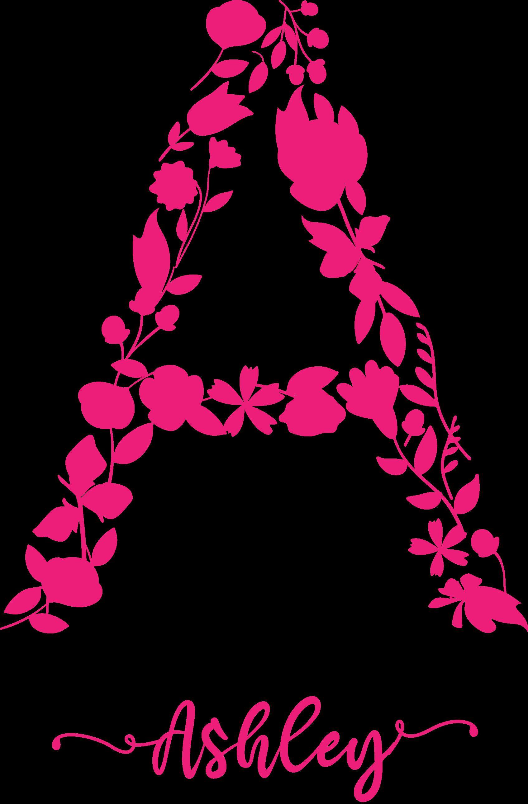 TenVinilo. Vinilo niños inicial nombre de flores. Vinilo bebé con inicial nombre personalizable en flores rosa con la que podremos hacer el nombre e inicial que desees ¡Envío a domicilio!
