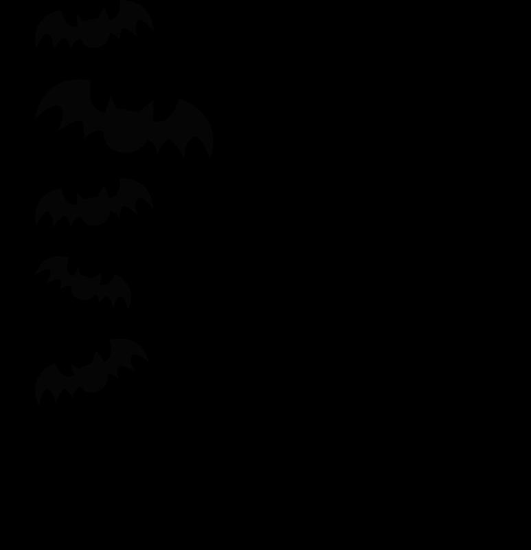 TENSTICKERS. ハロウィン魔女シルエットハロウィンウォールステッカー. 恐ろしい特集ハロウィーンのステッカー、デザインは子供の寝室のための装飾です。ほうきで飛ぶ魔女とコウモリが飛んでいます。