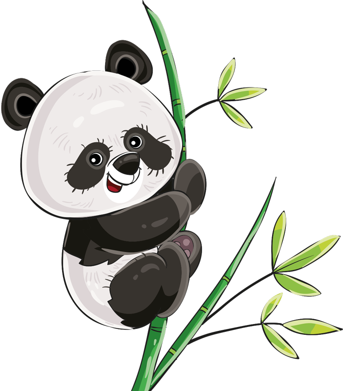 TenVinilo. Vinilo bebé panda trepador estilo nórdico. Vinilo animal infantil de panda trepando un árbol. Un diseño para cualquier cuarto infantil para llenarlo de ternura ¡Envío a domicilio!