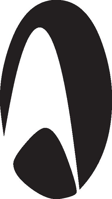 TenVinilo. Vinilo decorativo logo Star Trek. Logotipo en adhesivo de la franquicia de series y películas que narra la travesía por el espacio de la famosa nave Enterprise.