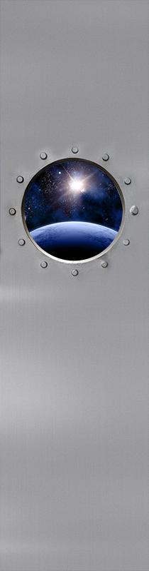 TenStickers. Türfolie Optischer effekt im universum. Entdecken Sie das universum mit diesem wundervollen weltraum-vinyl-aufkleber! Melden sie sich noch heute auf unserer Website an und erhalten sie 10% rabatt auf Ihre erste bestellung.