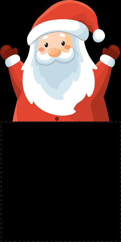 TENSTICKERS. ハッピーサンタクロースステッカークリスマスウォールステッカー. クリスマスをテーマにしたライトスイッチステッカーは、このお祭りシーズンにあなたの家に完璧な装飾的なタッチを追加します!