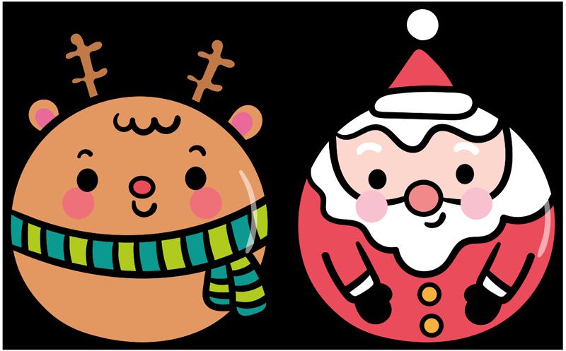 TENSTICKERS. オリジナルのサンタクロースとトナカイのクリスマスウォールステッカー. このお祭りシーズンにあなたの家を飾るためのかわいいクリスマスウォールステッカー!サイズを選択して、ステッカーを貼ってください。