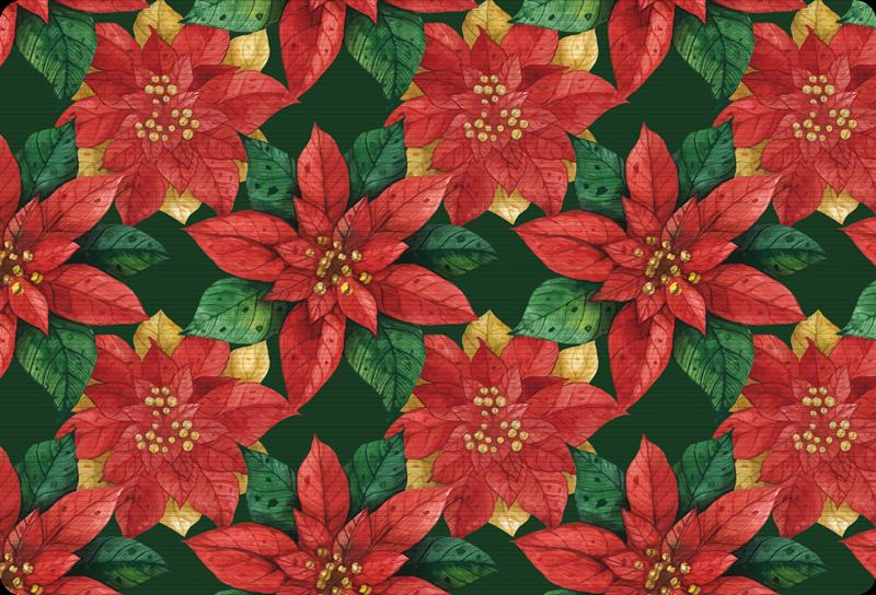 TENSTICKERS. 装飾的な花のラップトップステッカー. 赤、黄、緑の花のパターンが互いに接近しているのが特徴の見事な花のラップトップステッカーデザイン。 10%オフにサインアップしてください。