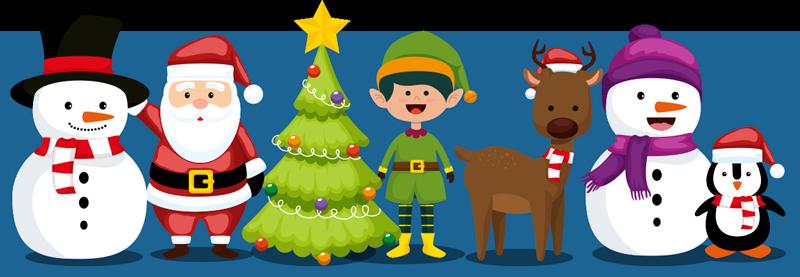 TENSTICKERS. サンタクロースのペンギンとツリーのクリスマスウォールステッカー. このお祝いのクリスマスステッカーであなたの家、オフィスまたはビジネスを飾ります。お店にぴったりの装飾品!今すぐ注文してください!