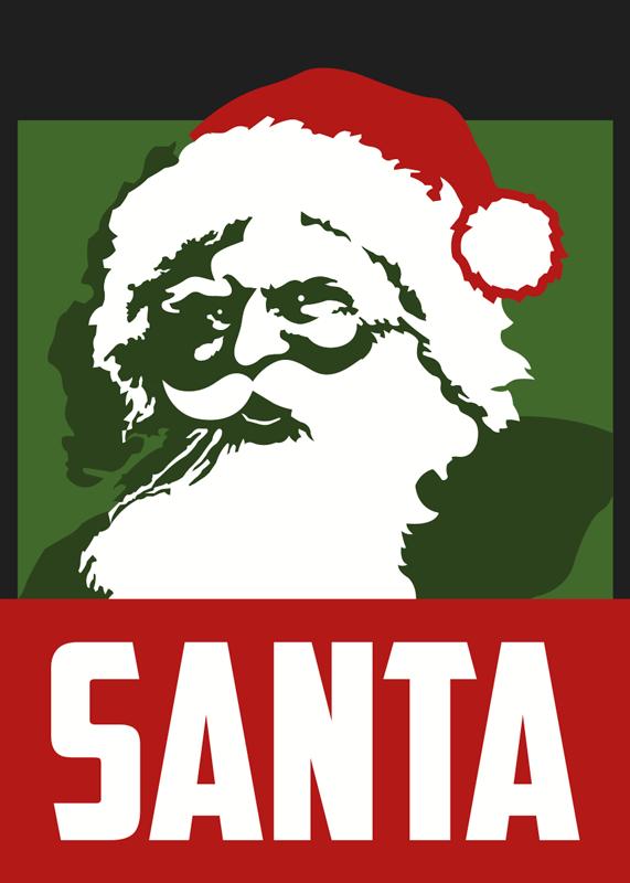 TENSTICKERS. リアルなサンタポスタークリスマスウォールステッカー. この素晴らしいポスターステッカーのデザインは、サンタクロースのリアルな写真とその下にサンタという言葉が描かれています。現在ご利用いただけます。