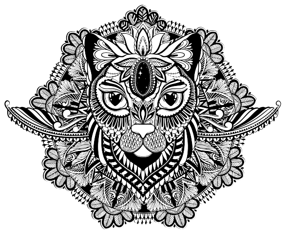TenVinilo. Vinilo pared mandala de león étnico. Vinilo pared mandala para la decoración del hogar con diseño de un león étnico con el que podrás decorar cualquier estancia ¡Compra online!
