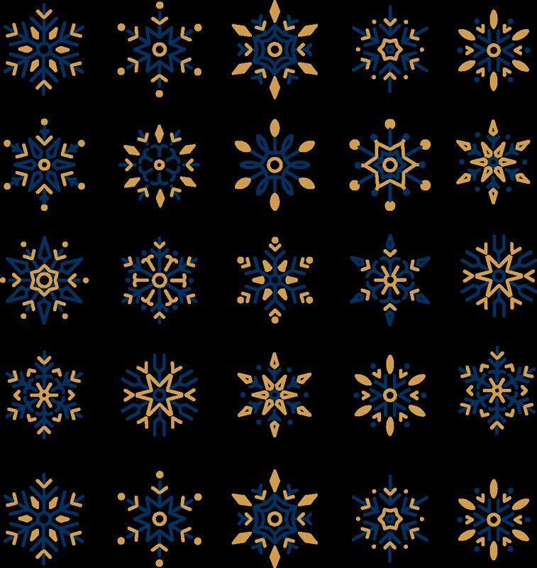 TenVinilo. Pegatinas navidad 25 copos de nieve únicos. Pegatinas navideñas de copos de nieve de colores únicos para decorar tu hogar. Producto de calidad y fácil de aplicar ¡Envío a domicilio!