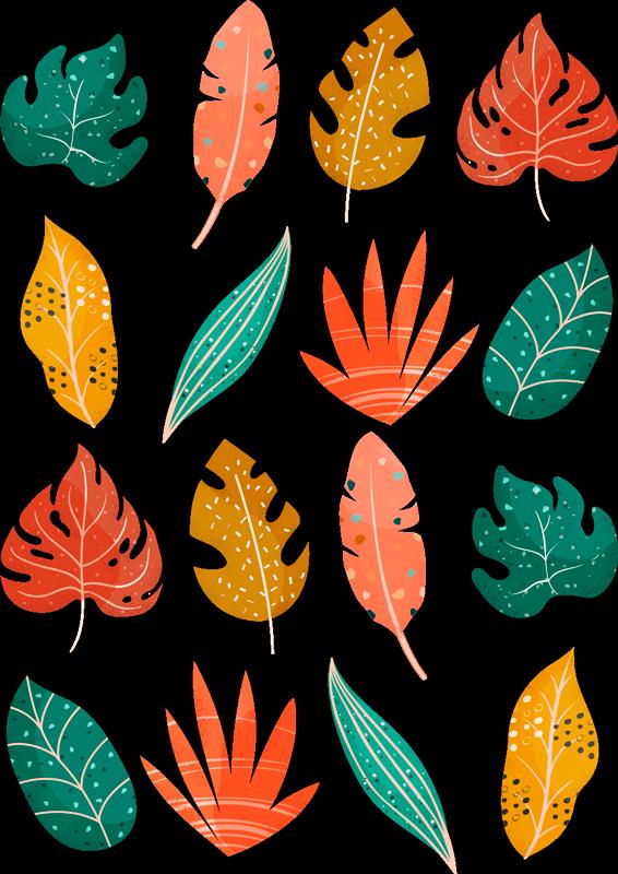 TenVinilo. Vinilo pared hojas 18 hojas estilo nórdico. Hojas de vinilo adhesivo coloridas en estilo nórdico para pegar en cualquier superficie plana del lugar que prefieras ¡Envío a domicilio!