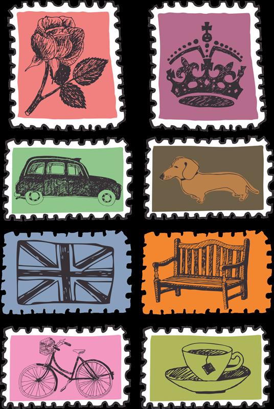 TENSTICKERS. イギリスのランドマークパックロンドンステッカー. 英国のランドマークステッカーのこれらのパックを壁のスペースに貼り付けて、スタイリッシュに飾りましょう。注目のデザインのそれぞれをあなたのスタイルに適用できます。