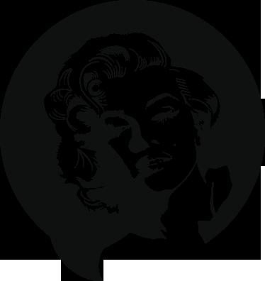 TENSTICKERS. マリリンモンローのキャラクターの壁の装飾. 歴史の中で最もセクシーな人の1人であるマリリンモンローをイメージしたハリウッドのウォールステッカー。泡なしで非常に簡単に適用できます。