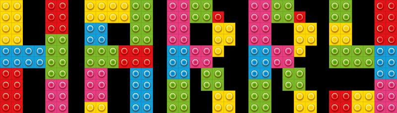 TenStickers. Autocolantes de brinquedos Lego com nome. Decore o quarto do seu filho com este vinil autocolante decorativo de lego personalizado. O design é um conjunto de tijolos de lego usados para criar um nome.