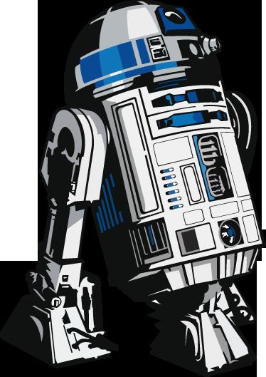 TenStickers. Wandtattoo R2D2. Wandtattoo des Roboters, der Luke Skywalker auf allen Abenteuer begleitete. R2D2 - einer der bekanntesten Roboter in der Filmgeschichte.