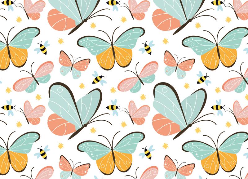 TENSTICKERS. 家具用の蝶とミツバチのデカール. 家具用の装飾的な蝶のデカール。様々なカラフルな蝶のデザインが特徴です。すべてのスペースに適しています。簡単に適用できます。