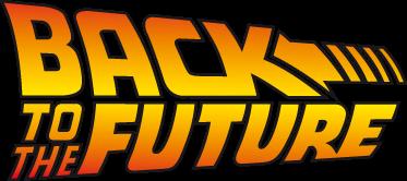 TenStickers. Sticker decorativo Ritorno al Futuro. Adesivo murale raffigurante il titolo, nel tipico carattere, del famoso film che narra delle avventure spazio-temporali di Marty McFly.