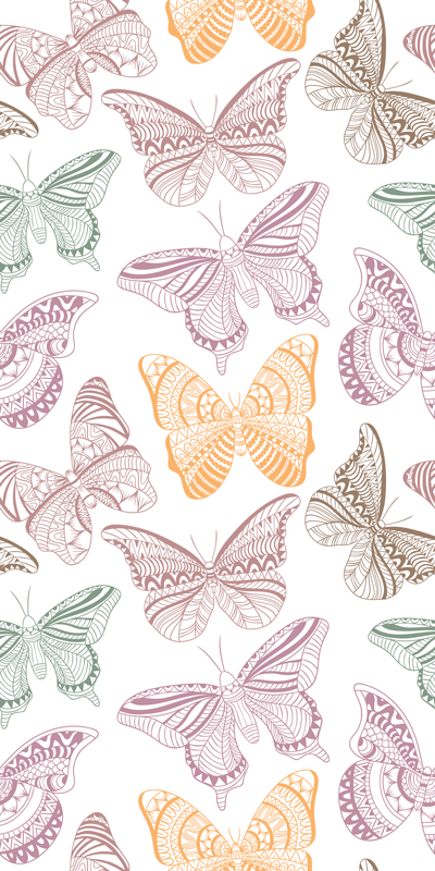 TENSTICKERS. 色付きの装飾的な蝶のウィンドウデカール. この驚くべき多色蝶のウィンドウデカールのカラフルなタッチでウィンドウスペースを飾ります。適用しやすく、しわ効果に耐性があります。