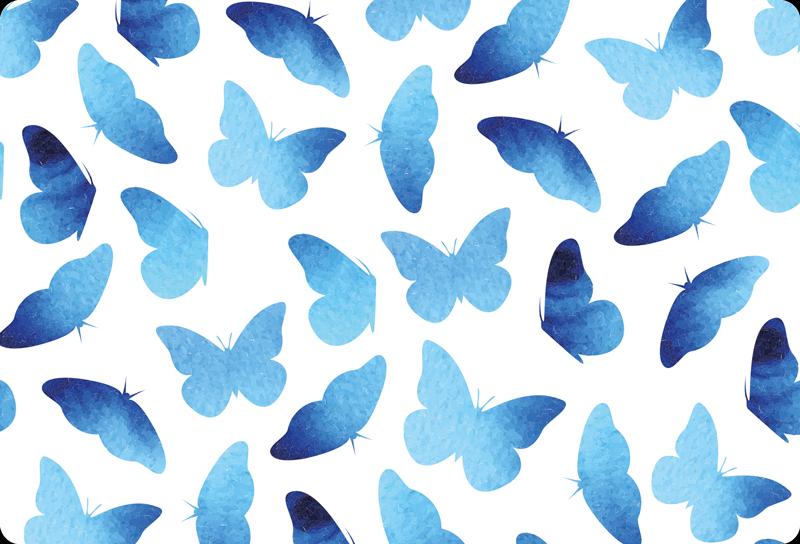 TenVinilo. Vinil para laptop mariposas azuladas. Vinil para laptop con mariposas de color azul para decorar tu portátil con un toque encantador y tierno ¡Envío a domicilio!