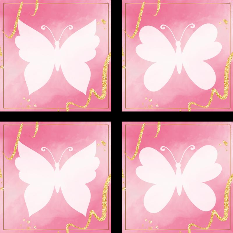 TENSTICKERS. ピンクの蝶のタイル転送. バスルームとキッチンスペースの防水バタフライタイルステッカー。どんな空間にも変身する素晴らしい蝶のデザインで、とても簡単に適用できます。