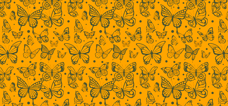 TenVinilo. Vinilo mueble mariposas doradas. Cubre la cualquier mueble de tu casa con este increíble papel adhesivo para muebles con mariposas vintage ¡Envío a domicilio!