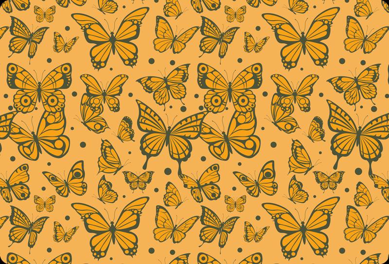 TENSTICKERS. トレンディな蝶のパターンのラップトップのステッカー. トレンディな蝶柄のラップトップスキンデカール。さまざまなサイズのいくつかの美しい蝶のビンテージ背景デザイン。