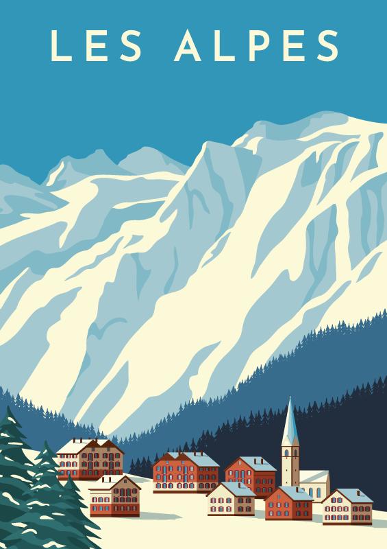 TENSTICKERS. スイスのデカールの山. スイスアルプスの装飾的な山のステッカー。選択したスペースを飾ります。家およびオフィススペースのための装飾。平らな面に簡単に塗布できます。