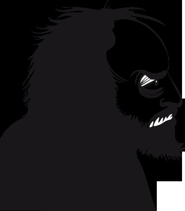 TenStickers. Stanley Kubrick Sticker. ekorativer Sticker von dem bekannten, amerikanischen Filmproduzenten Stanley Kubrick.