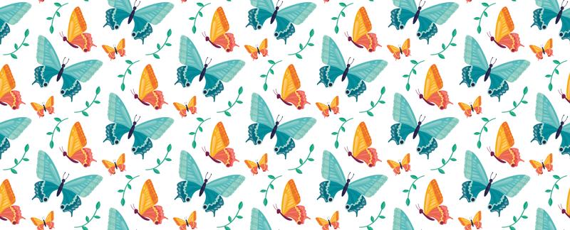 TENSTICKERS. 二色の蝶の家具デカール. 装飾的な蝶の家具デカール。あなたはこの素晴らしいデザインで家やオフィススペースのどんな家具でも飾ることができます。