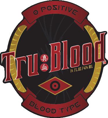 """TenVinilo. Vinilo decorativo True Blood. Adhesivo de una etiqueta basada en la serie de la HBO """"Sangre fresca"""" que narra la convivencia entre humanos y vampiros en un pueblo de Louisiana."""