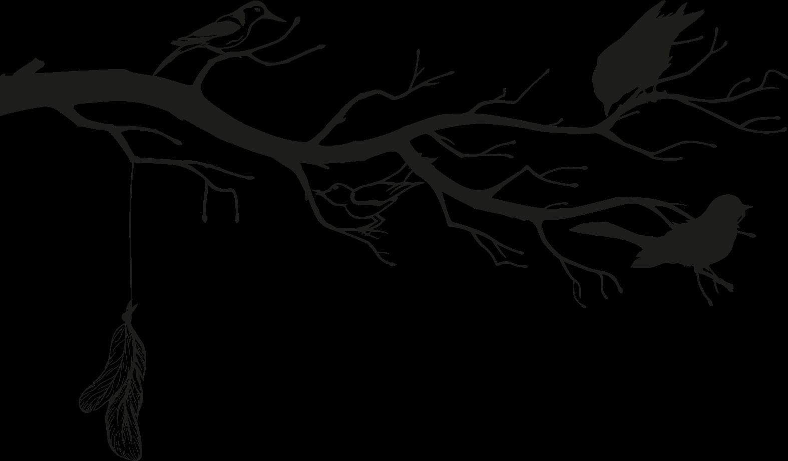 TenStickers. Sticker albero Albero e uccelli. Semplice albero decorativo con adesivo murale uccello che puoi posizionare su spazi piccoli o speciali in una casa o altri spazi per valorizzarla.