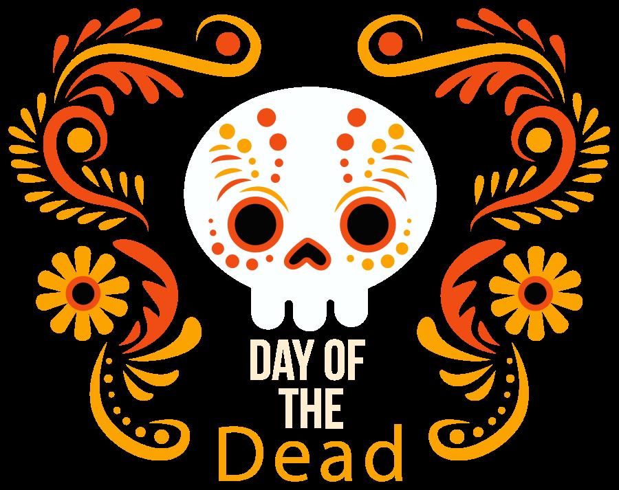 TenStickers. Stickers halloween Dag van de doden. Dag van de dode halloween sticker om de huis ruimte voor halloween te versieren. Een ontwerp van de schedel van een overledene met ornamentele kenmerken.
