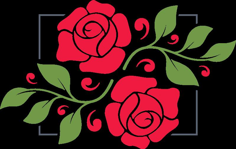 TenStickers. Adesivos para espelhos decorativos Moldura de flores românticas. Autocolante para espelho de moldura de flores românticas para embelezar superfícies de espelho e vidro! Também pode ser aplicado em qualquer outra superfície plana de sua escolha.