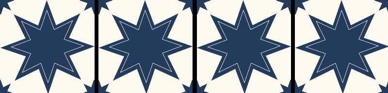 TENSTICKERS. 濃い青と白の大きな星のタイルの転送. 濃い青と白の大きな星のタイルデカールは、バスルーム、ベッドルーム、リビングルーム、キッチンスペースにも適しています。それはオリジナルでとても簡単に適用できます。