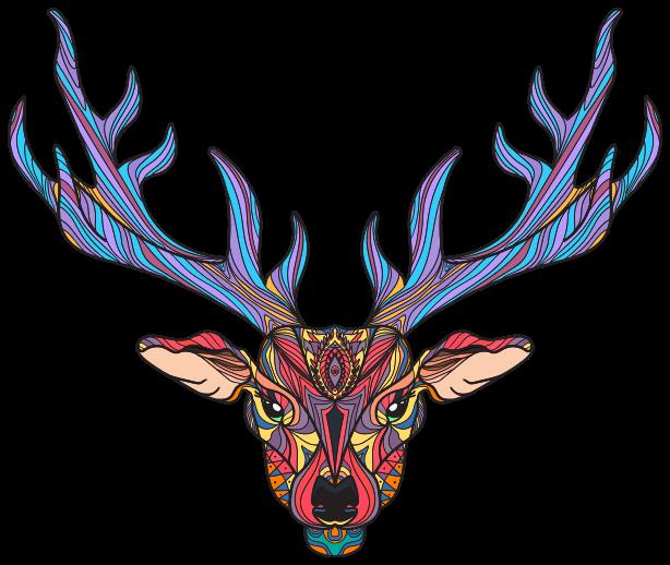 TENSTICKERS. 自由奔放に生きるトナカイ野生動物ステッカー. 自由奔放に生きるトナカイ野生動物デカール。選択した任意の平面を装飾する素敵なデザインで、リビングルーム、ベッドルーム、その他のスペースに適用できます。