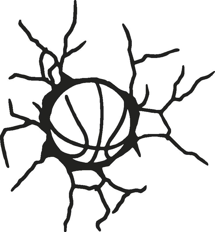 3d Basketball Ball Effect Sticker Tenstickers