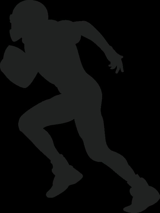 TENSTICKERS. アメリカンフットボール選手のデカール. アメリカンフットボール選手の装飾的なシルエットのデカール。このデザインは、このスポーツを愛する子供やティーンエイジャーに適しています。色で利用できる。