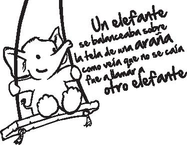 TenVinilo. Vinilo infantil canción un elefante. Adhesivo de la interminable canción infantil del paquidermo que va invitando a amigos a balancearse sobre la tela de una araña